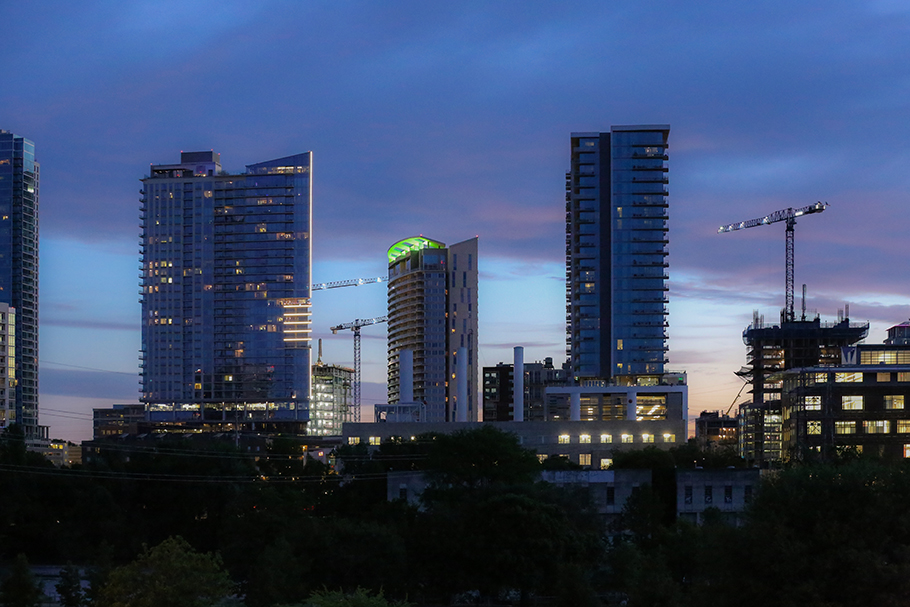Changing Skyline of Austin, 2017